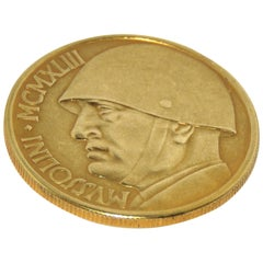 1943 Gold Coin Mussolini Made in Italy