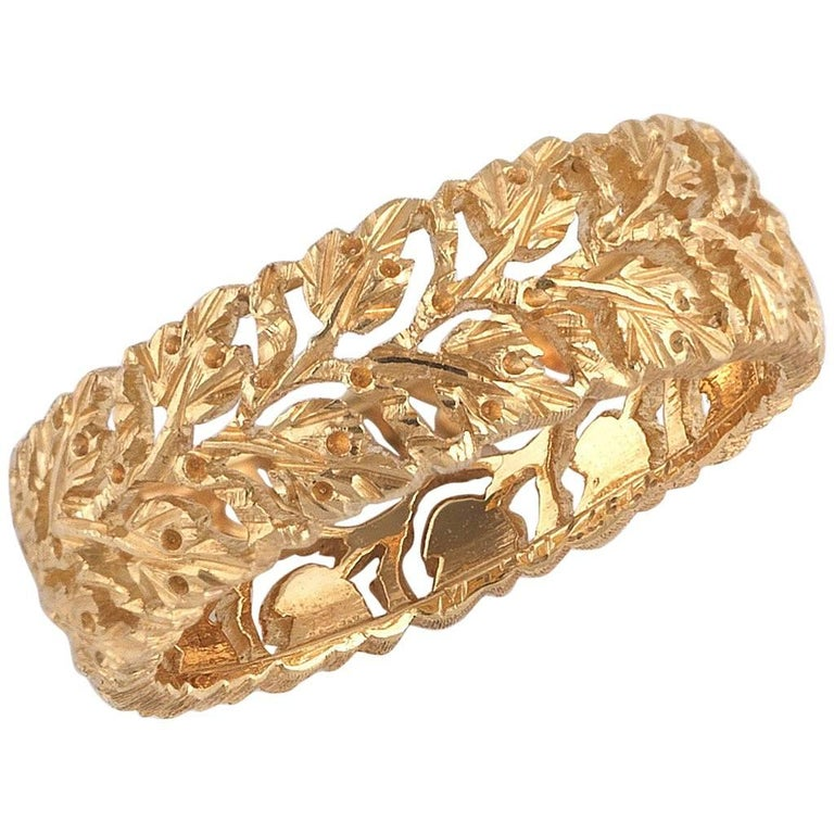 Buccellati Leaves and Branches Shaped Yellow Gold Band Ring