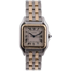 Cartier Yellow Gold Stainless Steel Panthere Quartz Wristwatch Ref 183949