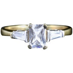 Deco Emerald Cut Paste 9 Carat Ring, circa 1920
