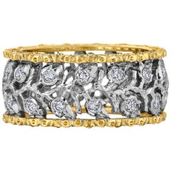 Buccellati Ramage Eternelle Diamond Gold Ring
