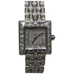Patek Phillipe Gondolo 18 Karat White Gold & Pave Diamond Lady's Bracelet Watch