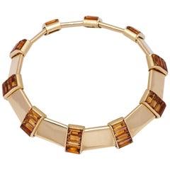 1960s Citrine Gold Collar