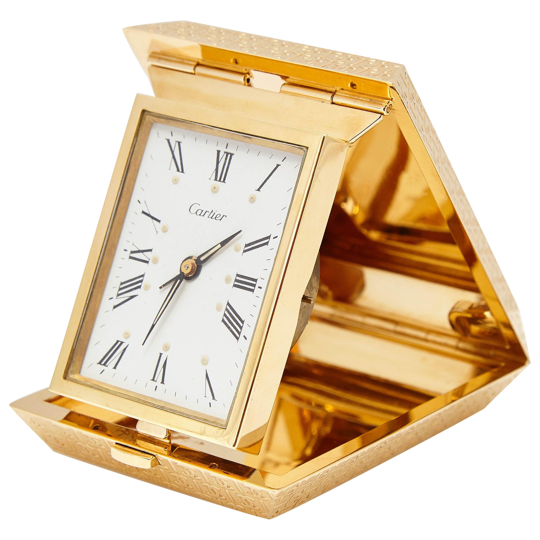 Cartier Gold Travel Clock