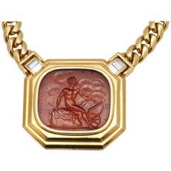 Bulgari Apollon Cornelian Intaglio Necklace