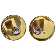 Michael Kneebone Silver Sapphire Lily Pad Earrings