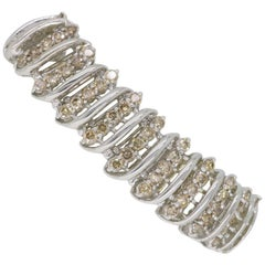 3.00 Carat Light Chocolate Diamond Bracelet