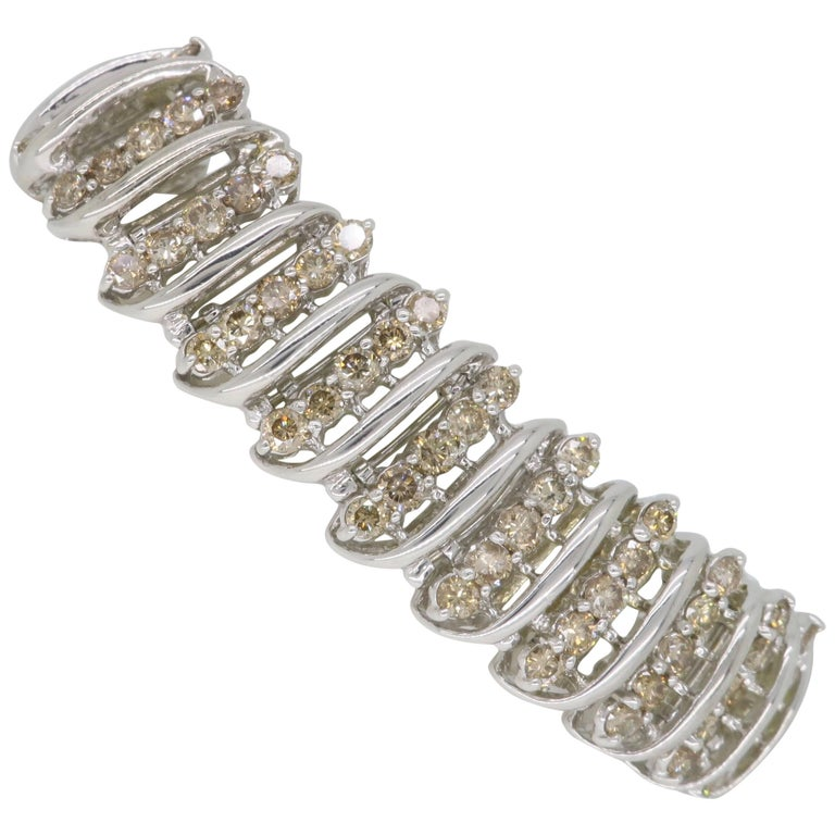 carat light chocolate diamond bracelet for sale at. Black Bedroom Furniture Sets. Home Design Ideas