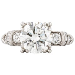GIA Certified 2.18 Carat Diamond, 1940s