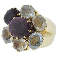 H. Stern Diane Von Furstenberg Harmony Multicolor Gemstone Gold Ring