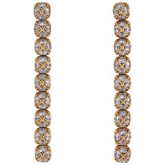 Fred Diamond and Rose Gold Dangle Earrings