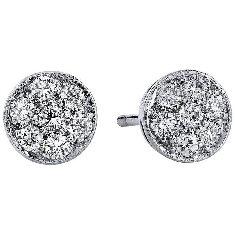 H & H 0.39 Carat Diamond Stud Earrings