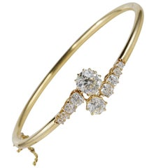 Victorian 4.80 Carat Diamond G/H VVS/VS Rare Bangle