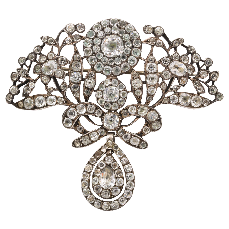 Antique Silver Portuguese Paste Pendant, 18th Century
