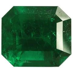 2.93 Carat, Emerald Cut, Certified Natural Muzo Colombian Emerald