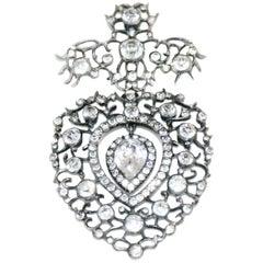 LouisXVI c1780 Antique French Paste Heart Pendant