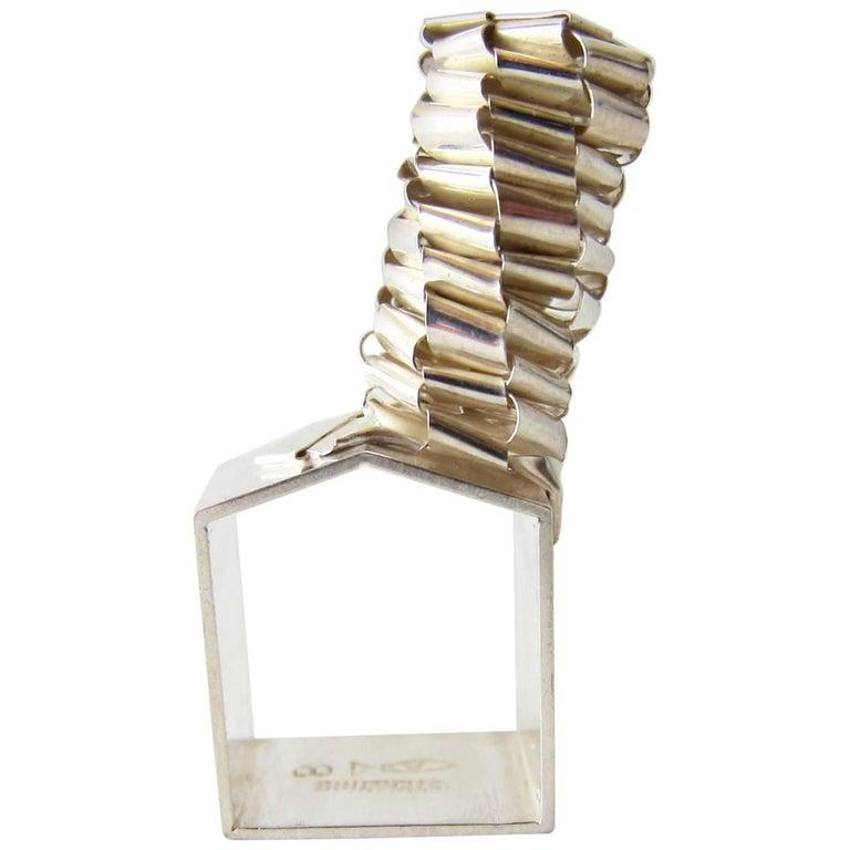 Rare Arline Fisch Woven Sterling Silver Artisan Ring