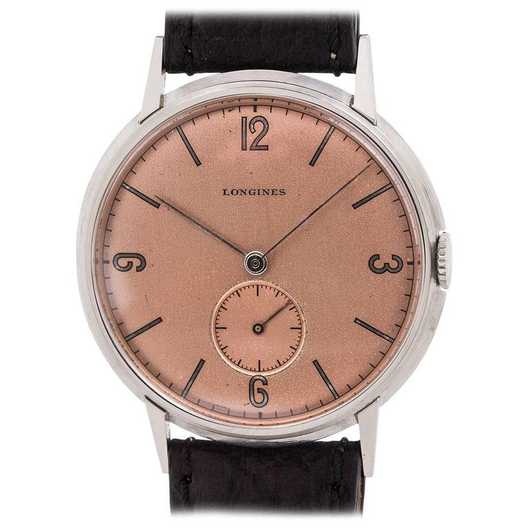 Longines Stainless Steel Dress Model manual wristwatch, circa 1942