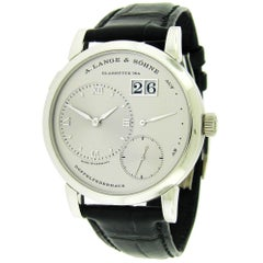 A. Lange & Sohne Platinum Lange 1 Manual Wristwatch
