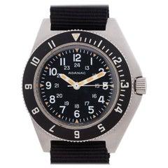 Gallet Stainless Steel Adanac Military Quartz Wristwatch, circa 1986