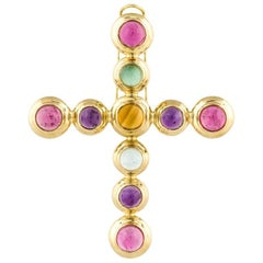 Tiffany & Co. Paloma Picasso 18 Karat Cross Pendant