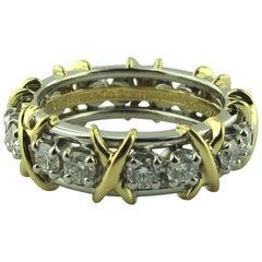 Tiffany & Co. 18 Karat and Platinum Diamond Band
