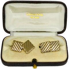 Tiffany and Co. Men's 14 Karat Gold Cuff Links