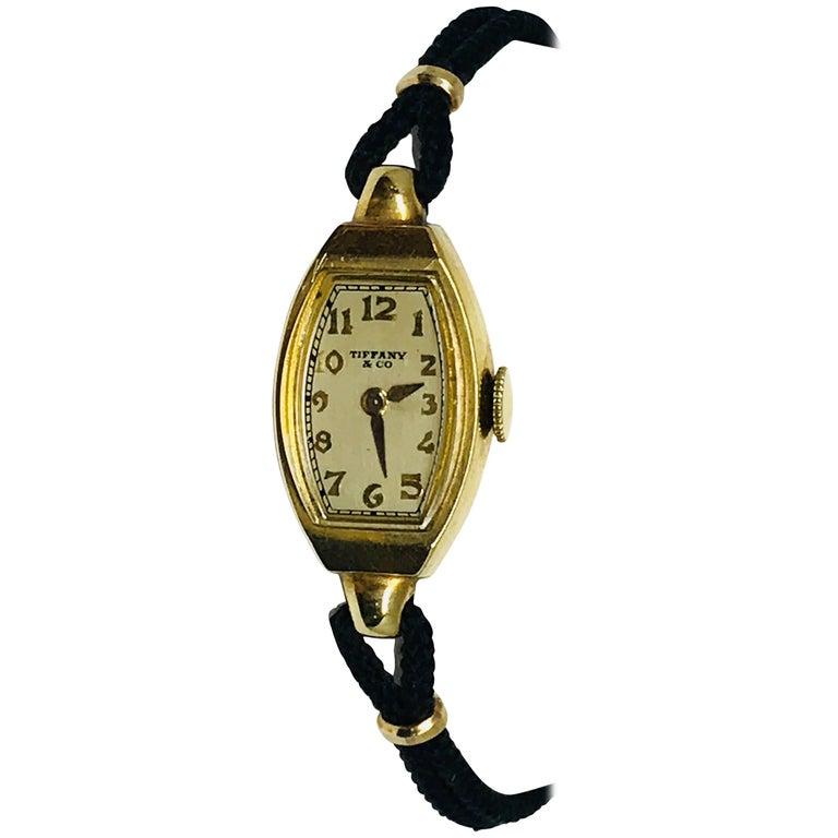 Ladies 14 Karat Gold Tiffany & Co. Watch by Hamilton