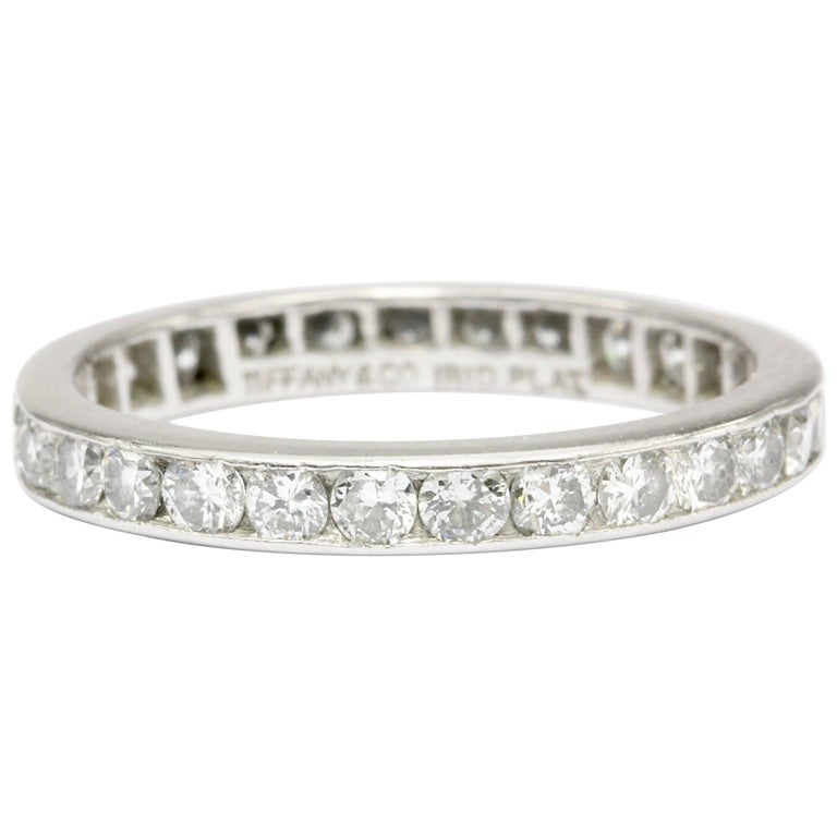 Tiffany & Co. Platinum Diamond Eternity Band, circa 1950s