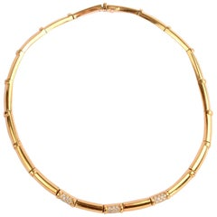 Chaumet Gold Diamond Choker Necklace