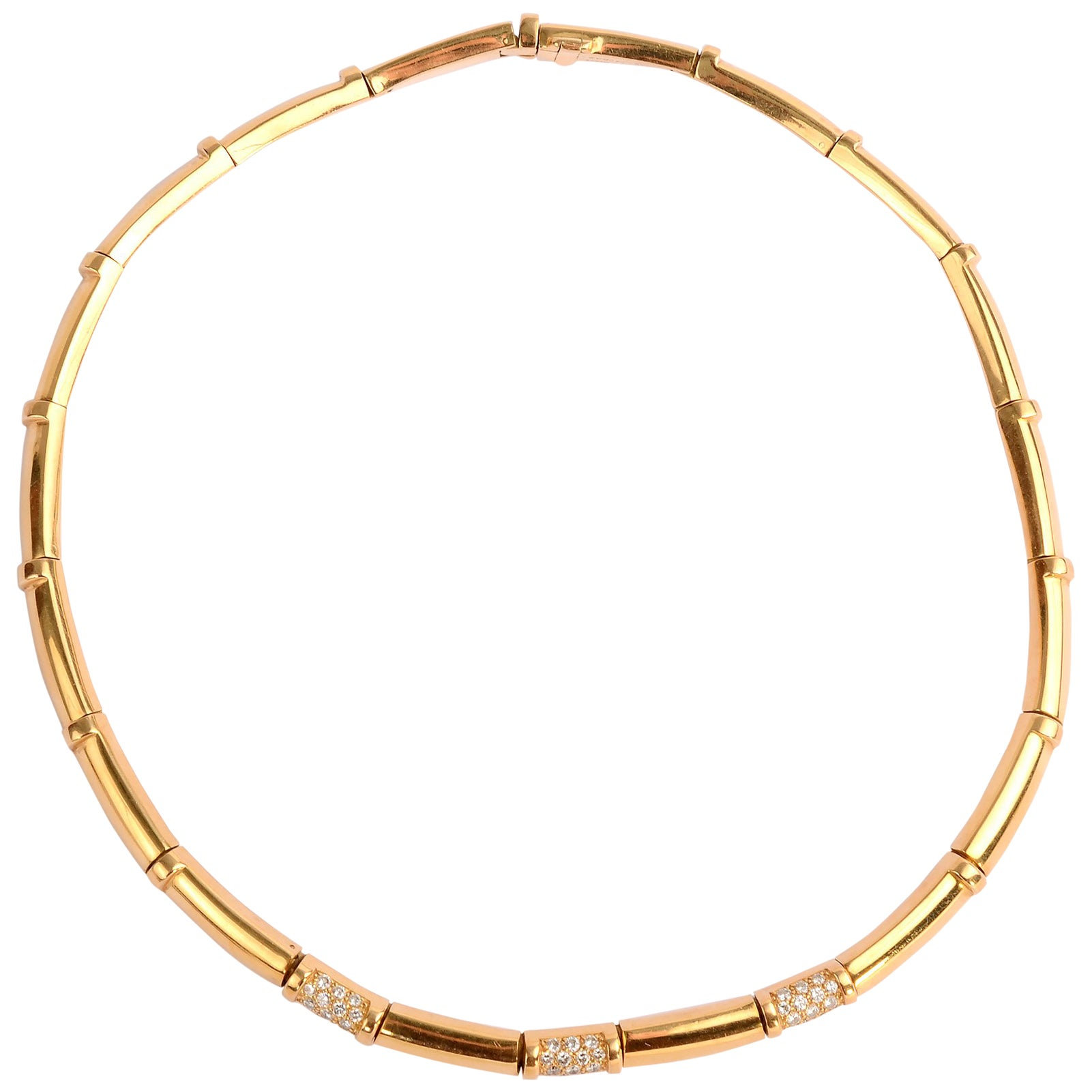 Chaumet Gold Diamond Choker Necklace