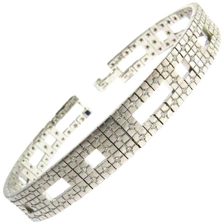 H. Stern Diamond Metropolis Collection Architectural White Gold Bracelet