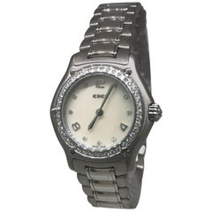 Ebel 1911 Stainless Steel Diamond Bezel and Dial Mother-of-Pearl Ladies Watch