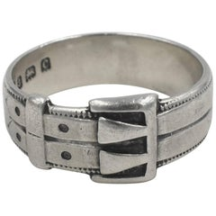 Antique Sterling Double Buckle Ring