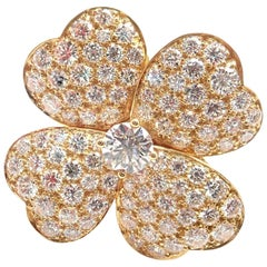 Van Cleef & Arpels Cosmos Diamond Large Model Yellow Gold Ring