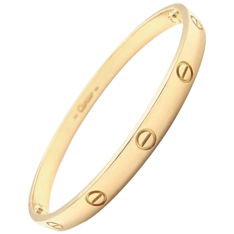 Cartier Love Yellow Gold Bangle Bracelet