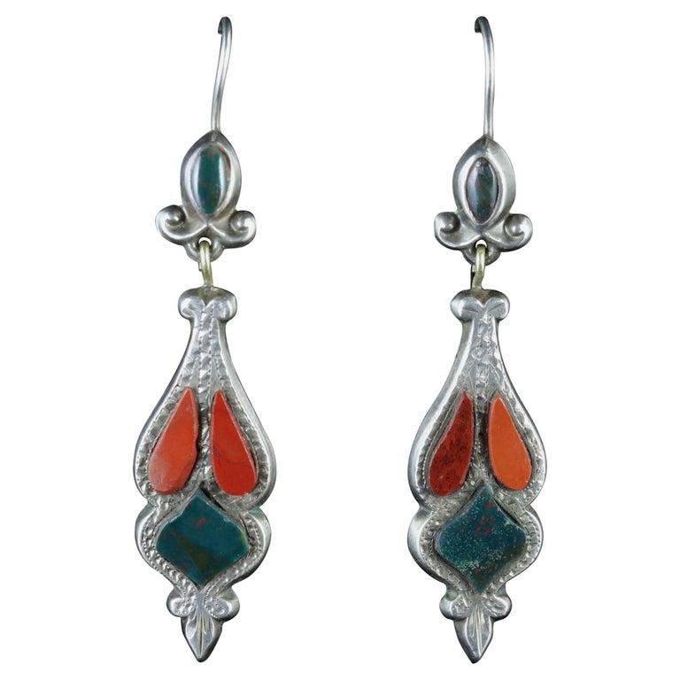 Antique Scottish Victorian Drop Earrings