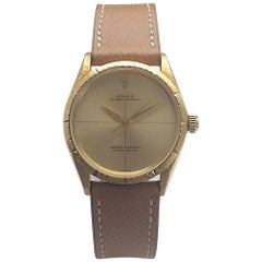 Rolex Yellow Gold Oyster Perpetual Zephyr Automatic Wristwatch, 1960s