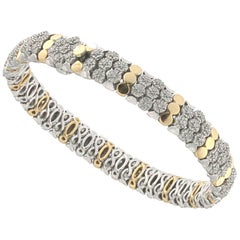Lolly Bracelet 18 Karat Pink Gold and White Diamond