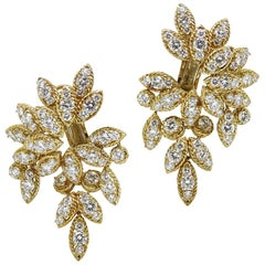 Van Cleef & Arpels NY 42085 Diamond Earrings, circa 1971