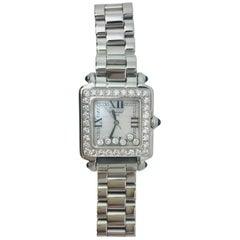 Chopard Ladies Stainless Steel Diamond Happy Sport Quartz Wristwatch Ref 8325