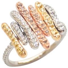 Multicolored Diamond Luba Ring