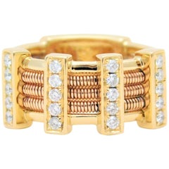 18 Karat Designer Diamond Stack Ring