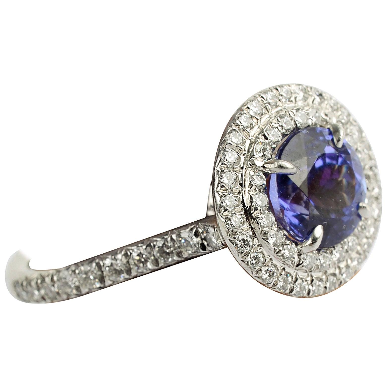 Tiffany & Co. Soleste Tanzanite and Diamond Ring