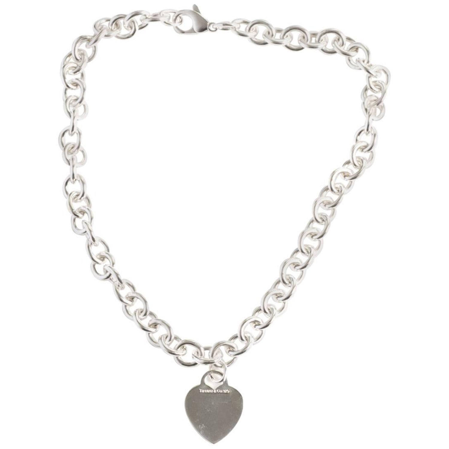 74862a3eb Tiffany and Co. Heart Charm Sterling Silver Choker Necklace at 1stdibs