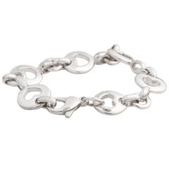 Tiffany & Co. Heart Link Sterling Silver Charm Bracelet