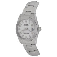 Rolex Stainless Steel White Dial Datejust Oyster Automatic Wristwatch Ref 68240