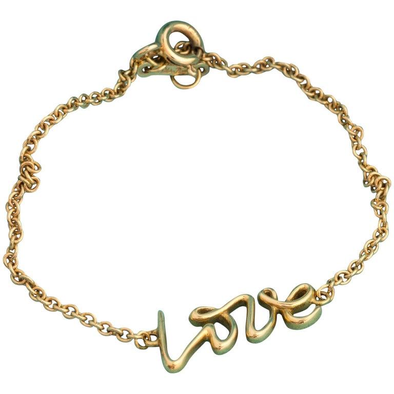 Tiffany & Co. Paloma Picasso Love Bracelet 18 Karat Gold