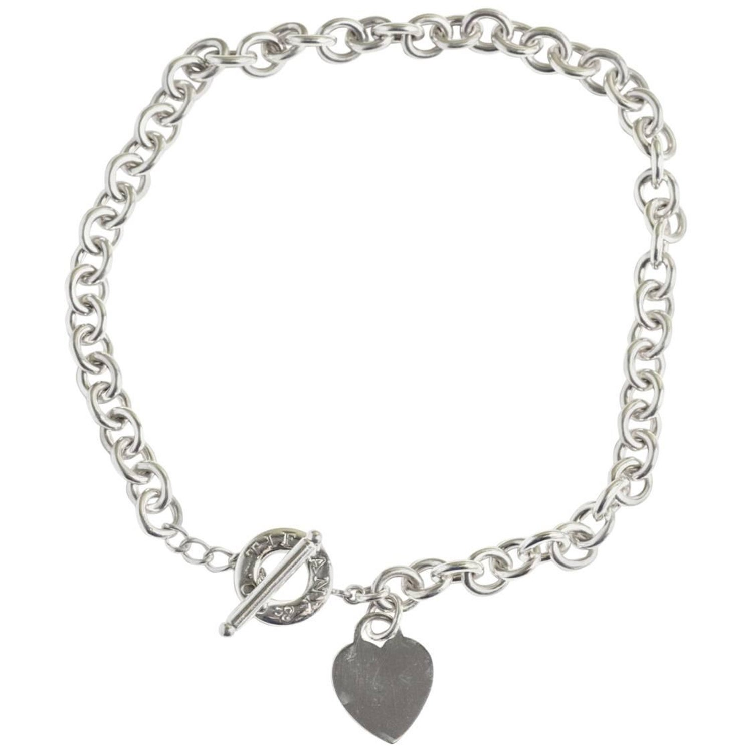 efe397bc9429b Tiffany & Co. Sterling Silver Heart Tag Toggle Necklace