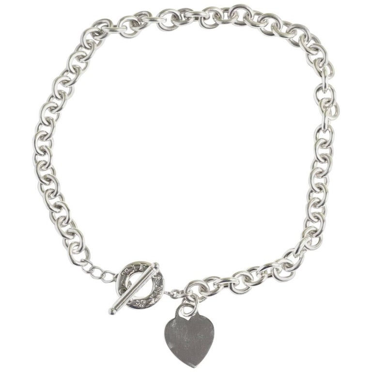 d20e4281d9d64c Tiffany and Co. Sterling Silver Heart Tag Toggle Necklace For Sale ...
